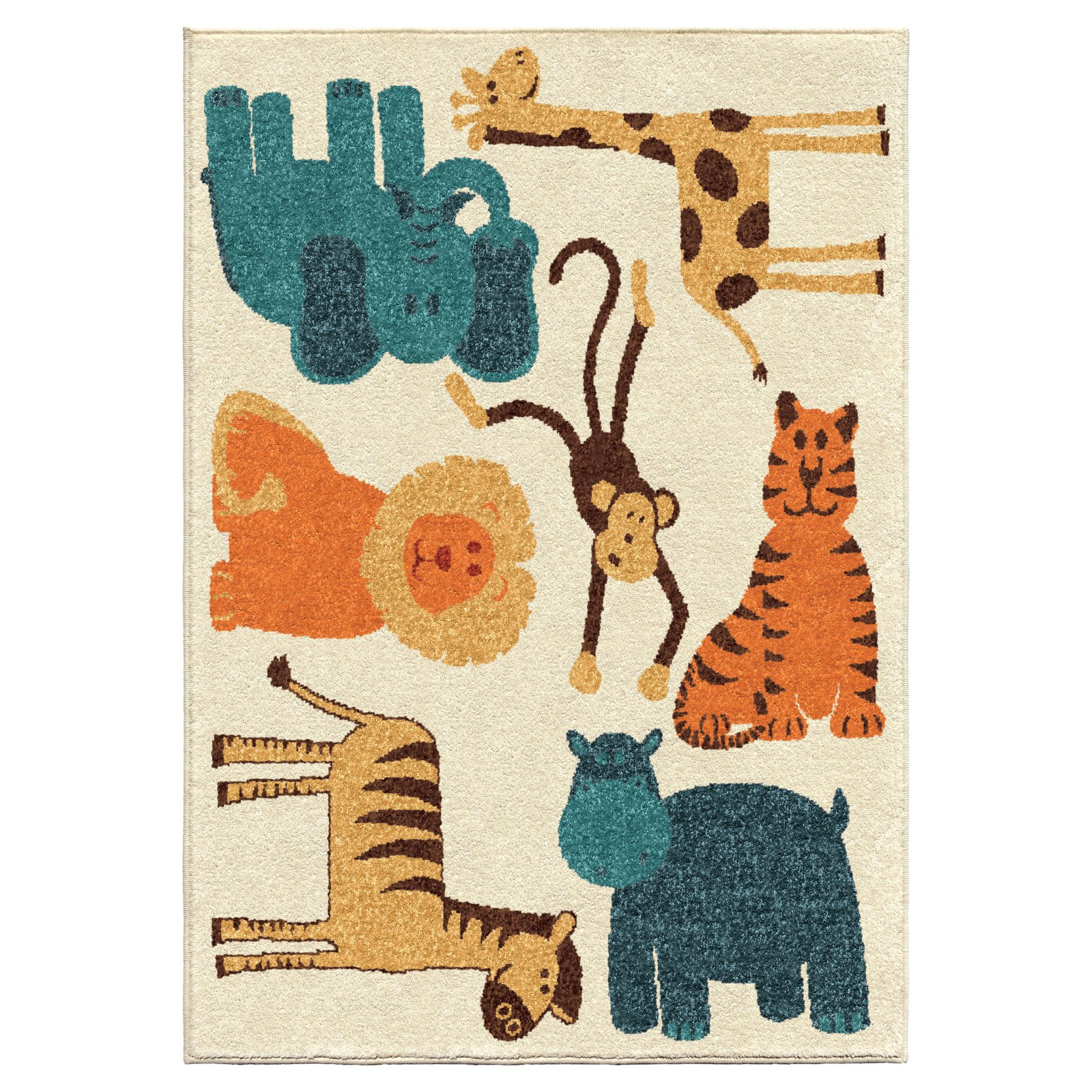 Orian Rugs My Room is a Zoo Kids Area Rug