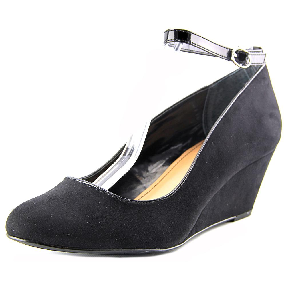 Style & Co Romie Women  Open Toe Synthetic Black Wedge Heel