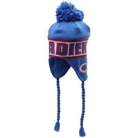 9f373d3c962750 Montreal Canadiens Reebok Winter Classic Tassel Knit Hat - Blue ...