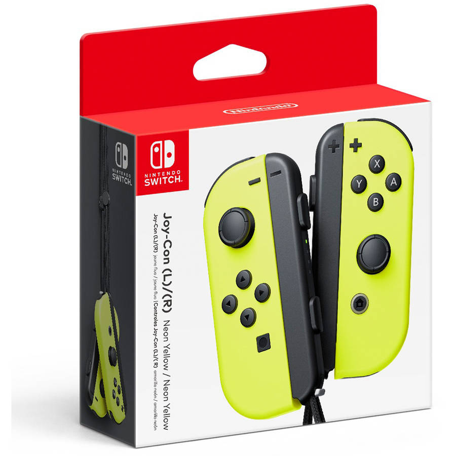 Nintendo Switch Neon Yellow Joy-Con Pair (L/R), 45496590543