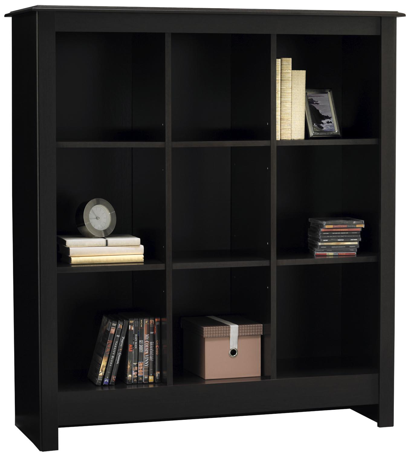 Ameriwood 9 Cube Wood Storage Cubby Bookcase In Black Forest Walmart Com