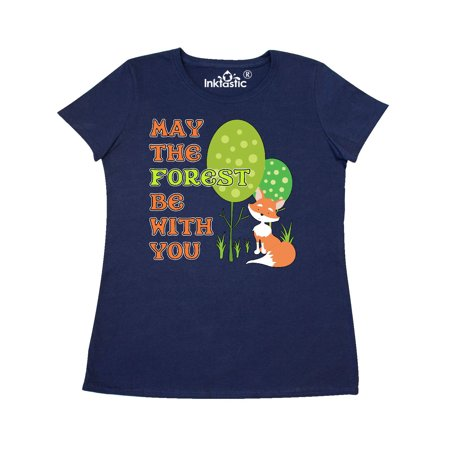 Fox Racing Woven Shirt (May the Forest Be With You- cute fox Women's T-Shirt)