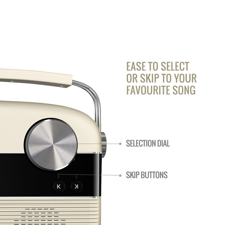 SAREGAMA HINDI Version, Carvaan SC01 Portable Music Player (Porcelain  White) 5000 songs music collection