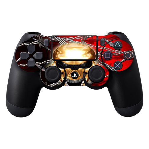 Protective Vinyl Skin Decal Cover for Sony PlayStation DualShock 4 Controller wrap sticker skins Pure Evil