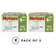 Pack of 2 - Huggies Natural Care Baby Wipe Refill, Fragrance Free (1,040 ct.)