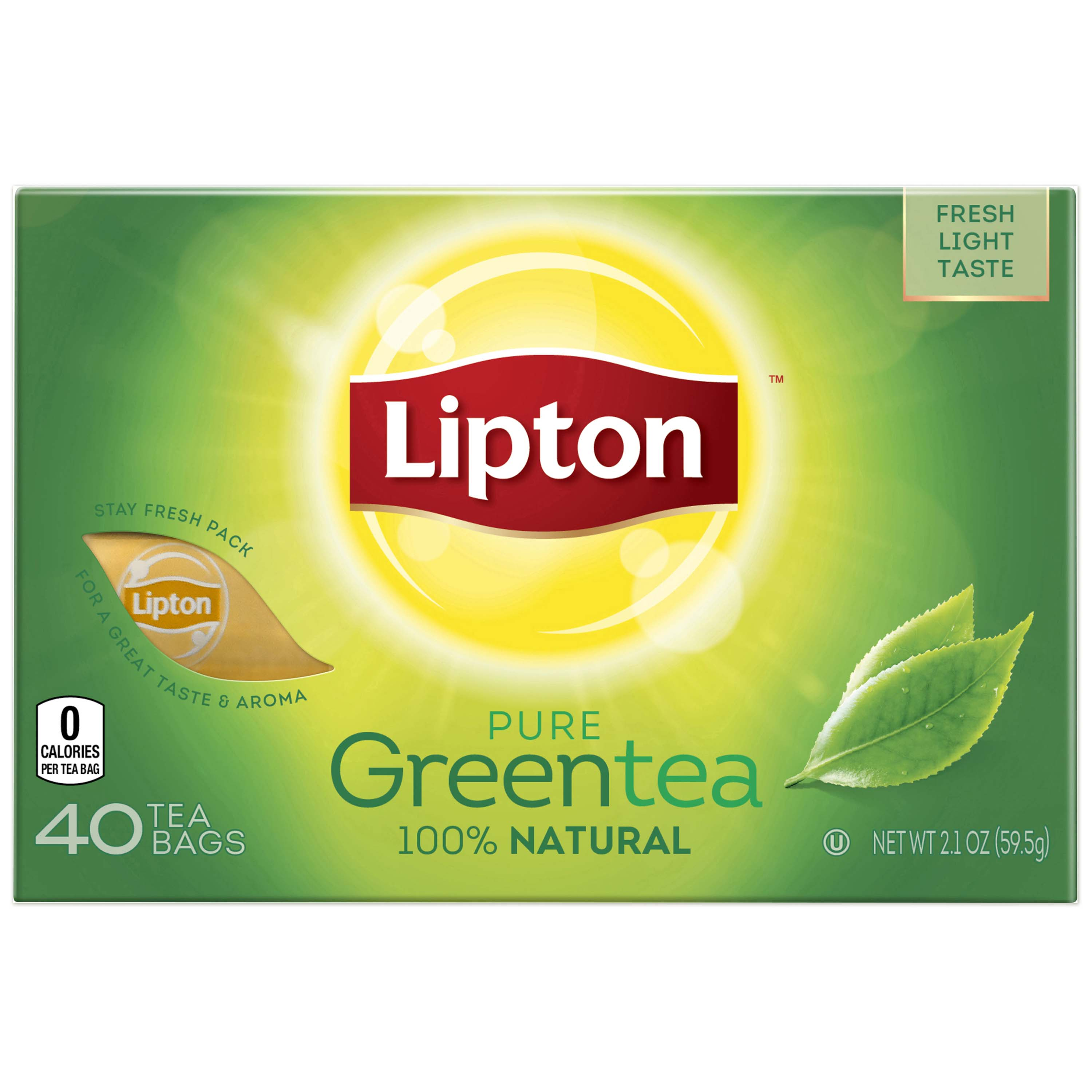 Lipton Natural Green Tea Bags, 40 ct