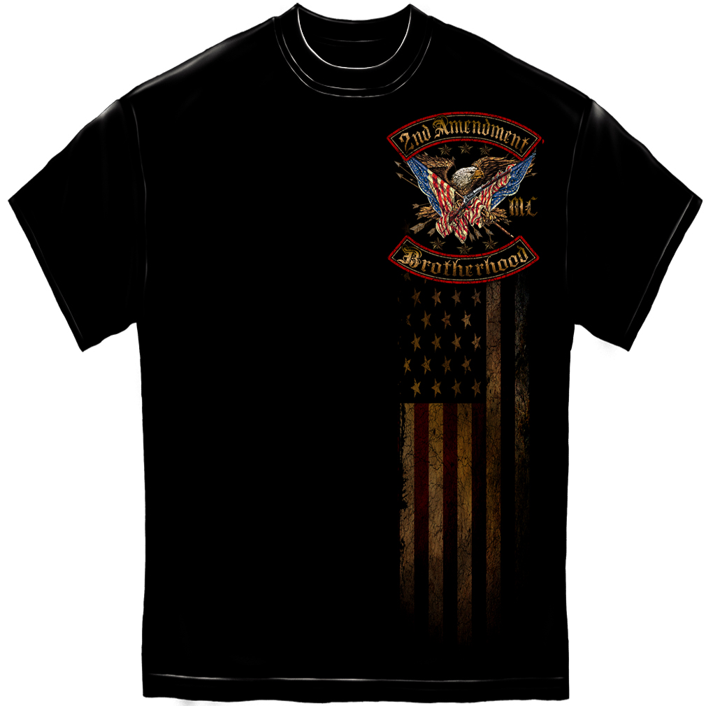 Cotton 2nd Amendment Double Flaged T-Shirt