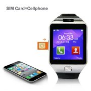 Bluetooth Smart Watch with HD Screen for Android & iOS with Camera, SMS Synchronization and Calls Alert, Android and iOS Smart Watch, Fitness Tracker Smart Watch