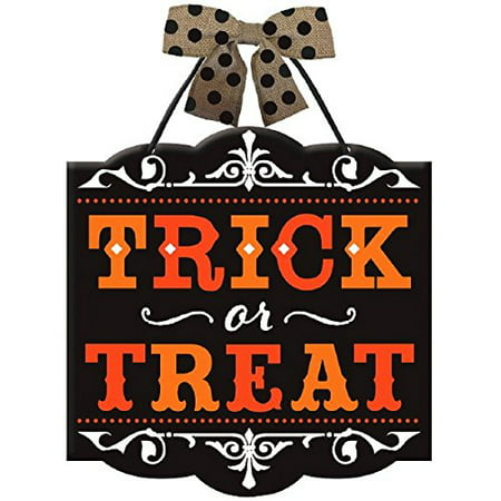 Halloween Decorations For Outside Party (New Age Scare Halloween Party Trick or Treat Hanging Sign Decoration, Board, 12