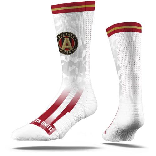Atlanta United FC Premium Sublimated Crew Socks - White - M/L