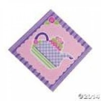 Fun Express Tea Party Lunch Napkins (16 Piece)