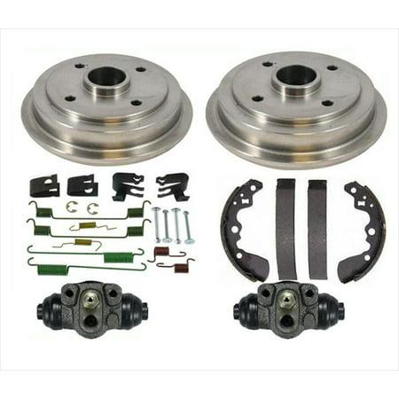 Rear Brake Drums Shoes Spring Kit Wheel Cylinder for Geo Metro 2 Door 95-97 Power Brake Spring