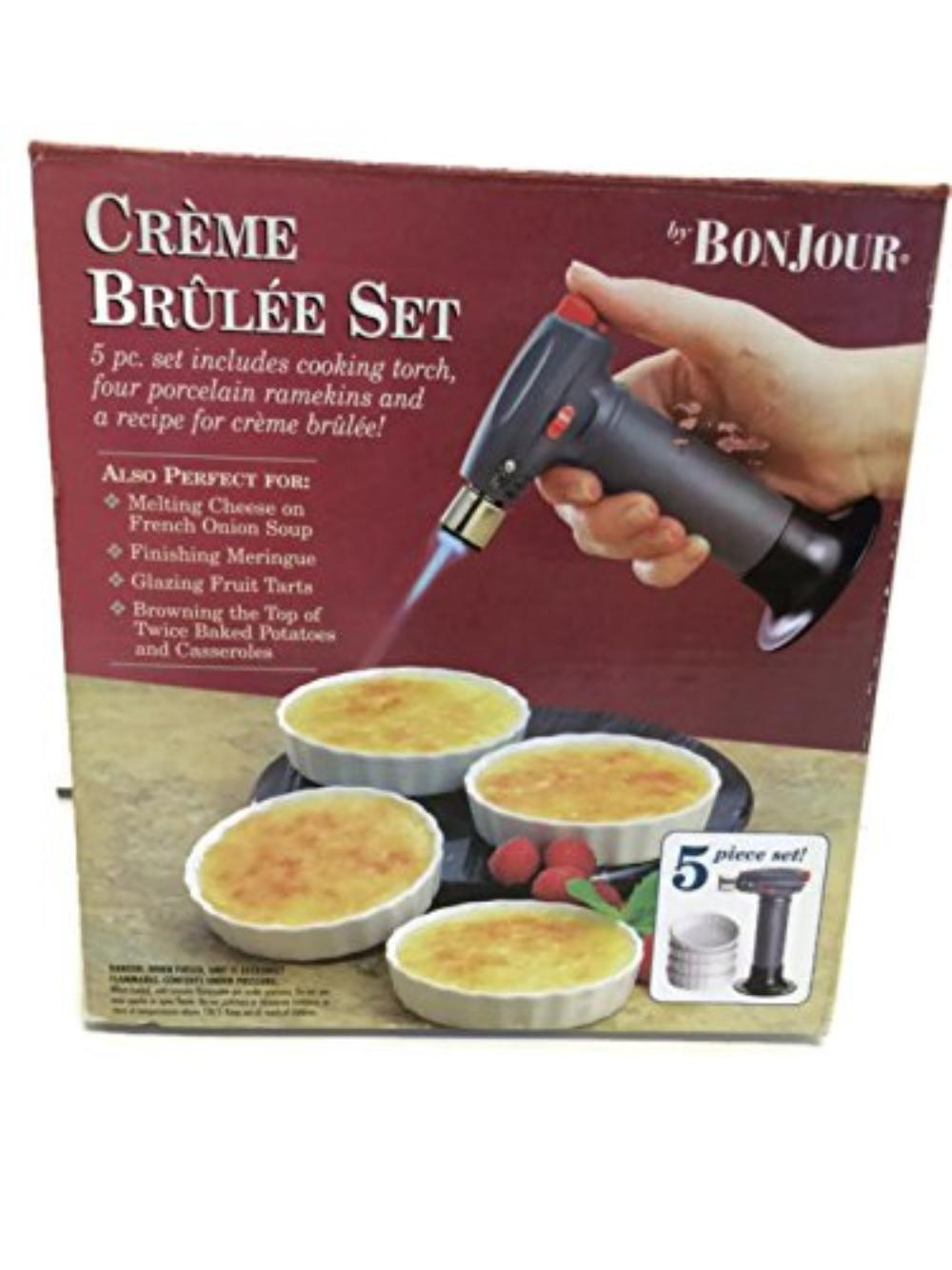 Bon Jour 5 Piece Creme Brulee Set Bed Bath And Beyond Includes Cooking Torch And 4 Ramekins By Bed Bath Beyond Walmart Com Walmart Com