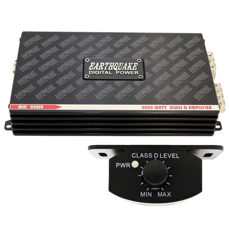 Earthquake Sound Mini D2000 Class D Mono Block 2000 Watt Car Amplifier