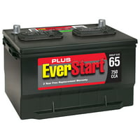 EverStart Plus Lead Acid Automotive Battery, Group Size 65 (12 Volt/750 CCA)