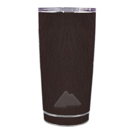 Skin Decal For Ozark Trail 20 Oz Brown Leather Design Pattern