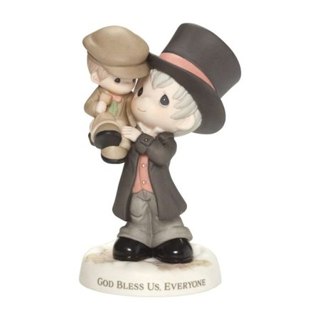 Precious Moments 181016 God Bless Us, Everyone - Scrooge Holding Tiny Tim Figurine (Precious Moments Christmas Figurines)
