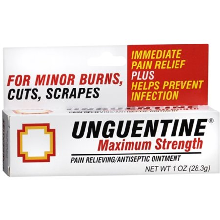 Unguentine Pain Relieving Antiseptic Ointment, Maximum Strength 1 oz Pain Relieving Antiseptic