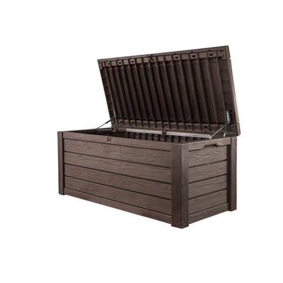 Fabulous Keter Westwood 150 Gallon Resin Outdoor Deck Box Storage Inzonedesignstudio Interior Chair Design Inzonedesignstudiocom
