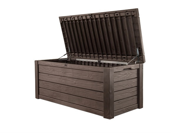 Large Storage Bench For Outdoor And Indoor Space Keter Westwood 150 Gallon Resin Outdoor Deck Box-Storage Bench - Walmart.com