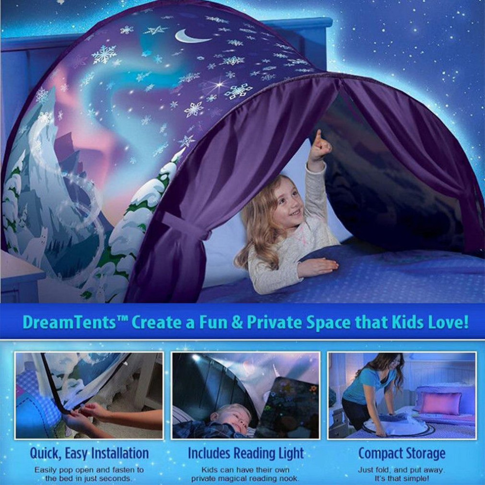 Dream Tents As Seen On TV, Dream Tents For Kids Bed, Innovative Dream Tents Kids Pop Up Bed Tent Playhouse Winter... by