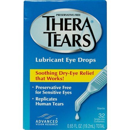 Thera Tears Lubricant Eye Drops Single Use Containers  0 02 Fl Oz  32 Ct