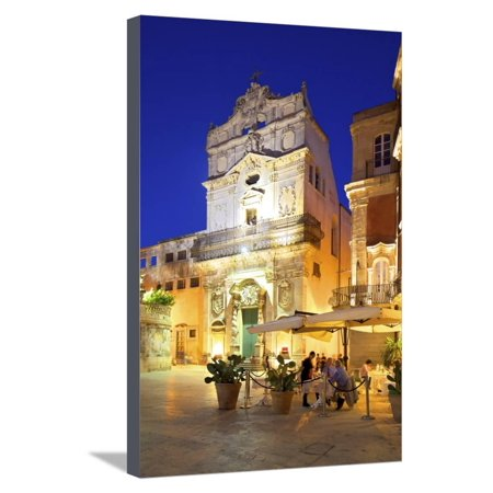 Restaurant and the Abbey Church of Saint Lucia, Ortygia, Syracuse, Sicily, Italy Stretched Canvas Print Wall Art By Neil Farrin](Saint Lucia Day)