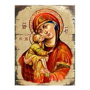G Debrekht Inspirational Icon Vladimir Virgin Mary Painting