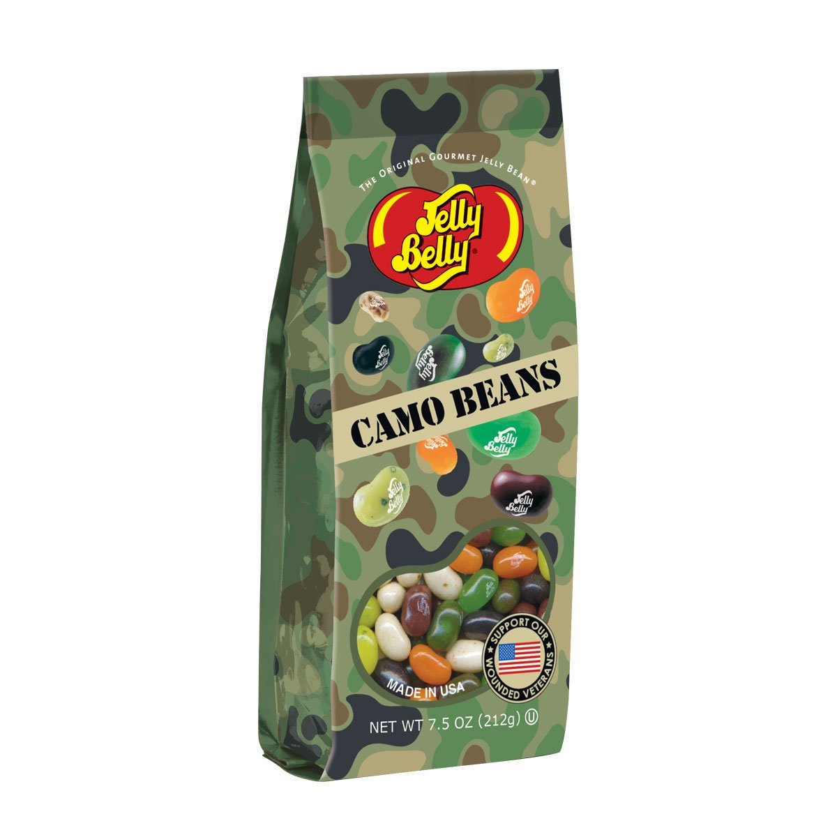 Jelly Belly Camo Jelly Beans 7.5 oz Gift Bag by