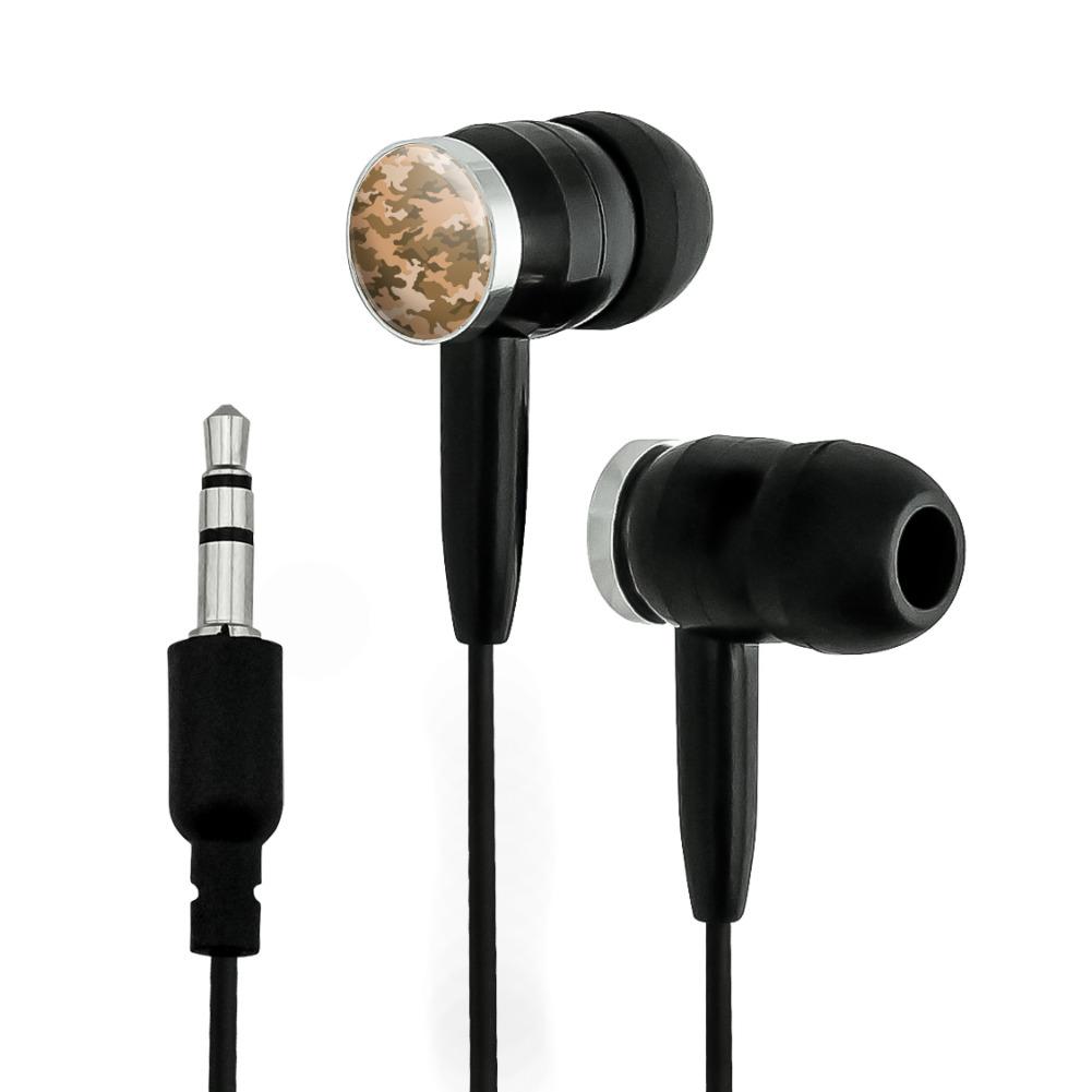 Camouflage Print Brown Novelty In-Ear Earbud Headphones ...