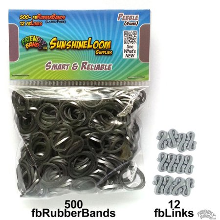 Friendly Bands Sunshine Bands Pack  Pebble Silver