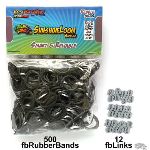 Friendly Bands Sunshine Bands Pack, Pebble Silver