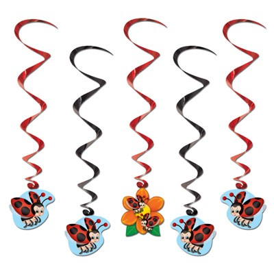 Ladybug Party Dangling Whirls