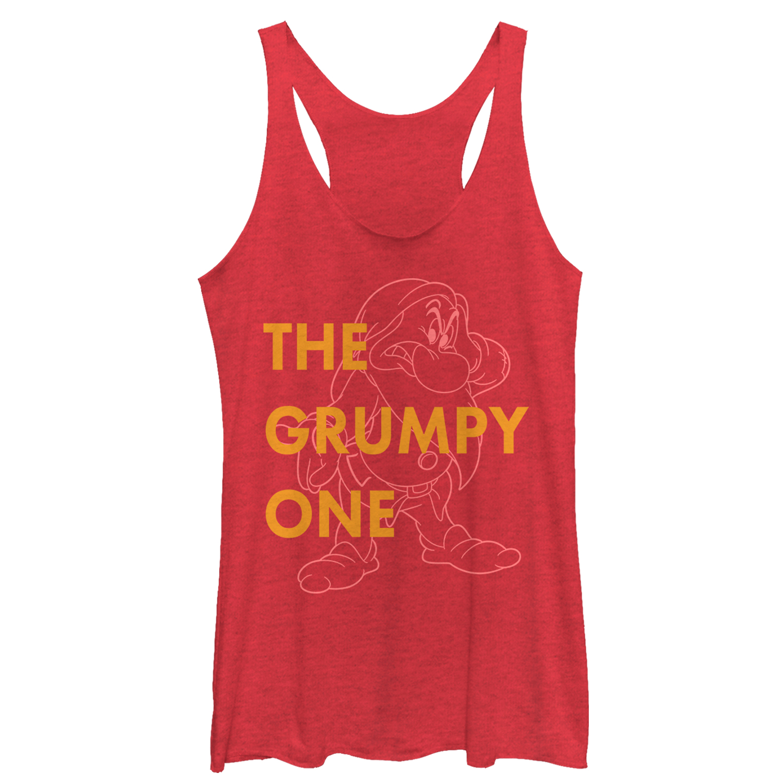 snow white and the seven dwarves women's grumpy one racerback tank top