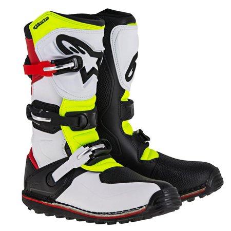 Alpinestars Tech-T Boots White/Red/Yellow/Black (White, 9) Alpinestars Touring Boot