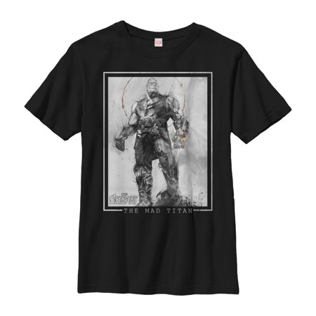 Marvel Boys' Avengers: Infinity War Thanos Grayscale T-Shirt ()
