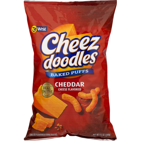 Wise Foods Cheddar Cheese Doodles Baked Puffs 8.5 oz. Bag (3 Bags) (Halloween Food Ideas Cheese Ball)