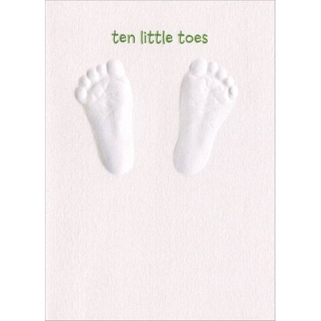 Avanti Press Baby Footprints A-Press New Baby Congratulations Card (Baby Footprint)