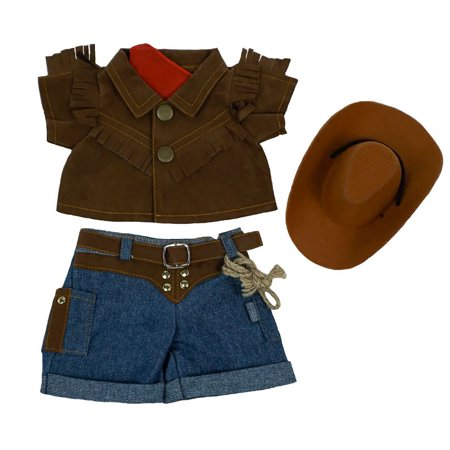 Teddy Bear Outfit For Dogs (Cute Cowboy Outfit Teddy Bear Clothes 8 inch to 10 inch Build-a-bear and Make Your Own Stuffed)