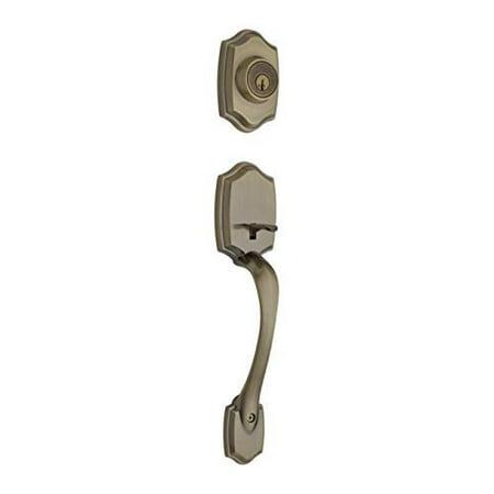 - Kwikset 687BWLIP-5S Belleview Single Cylinder Exterior Handleset Smart Key Antique Brass Finish