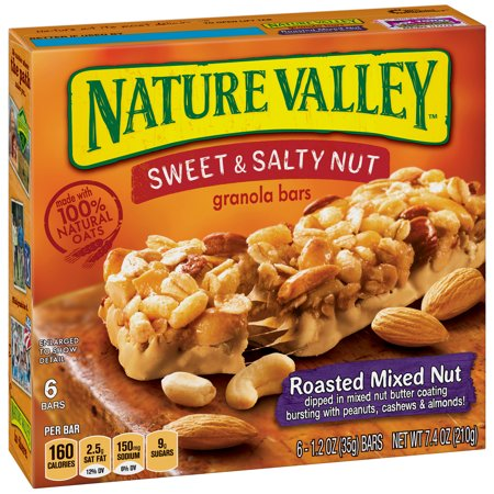 Nature Valley Granola Bars Sweet & Salty Nut Roasted Mixed Nut 6 Bars