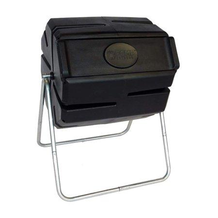 FCMP Outdoor RM4000 37 Gallon 1 Piece Tumbling Composter Bin for Soil ()