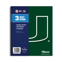 MIAMI HURRICANES CLASSIC 3-SUBJECT NOTEBOOK