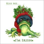 LPG Greetings Life Lines Kiss Me I'm Irish - Christmas by Peggy Abrams Graphic Art Plaque