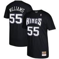 Jason Williams Sacramento Kings Mitchell & Ness Hardwood Classics Retro Name & Number T-Shirt - Black
