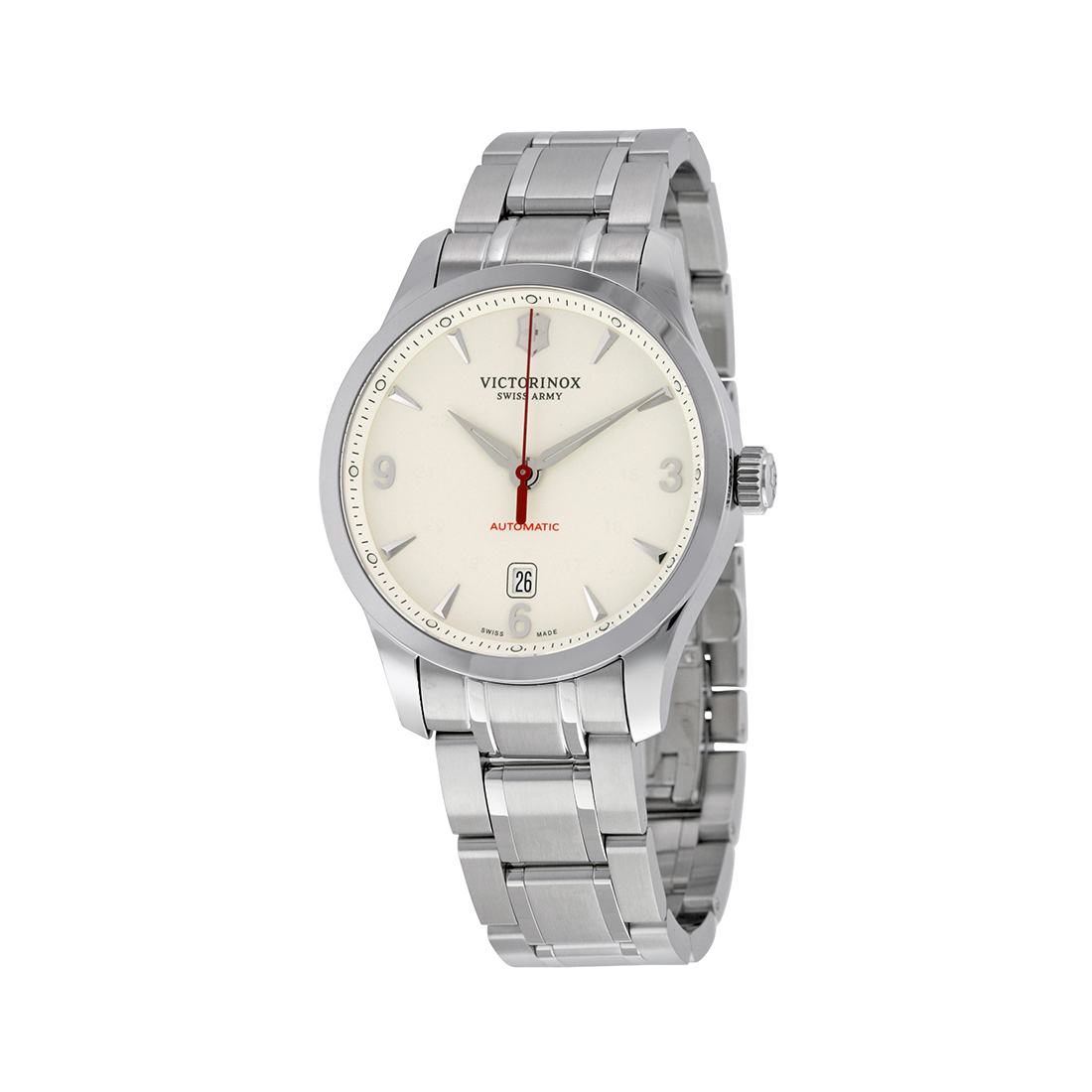 Swiss Army Men's Watch Alliance Mechanical Automatic Silver Dial 241667 by Victorinox