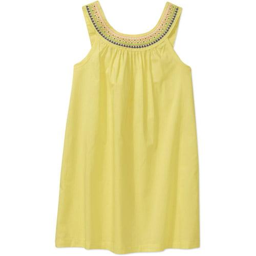 Healthtex Healthex Collar Emb. Solid Woven Dress