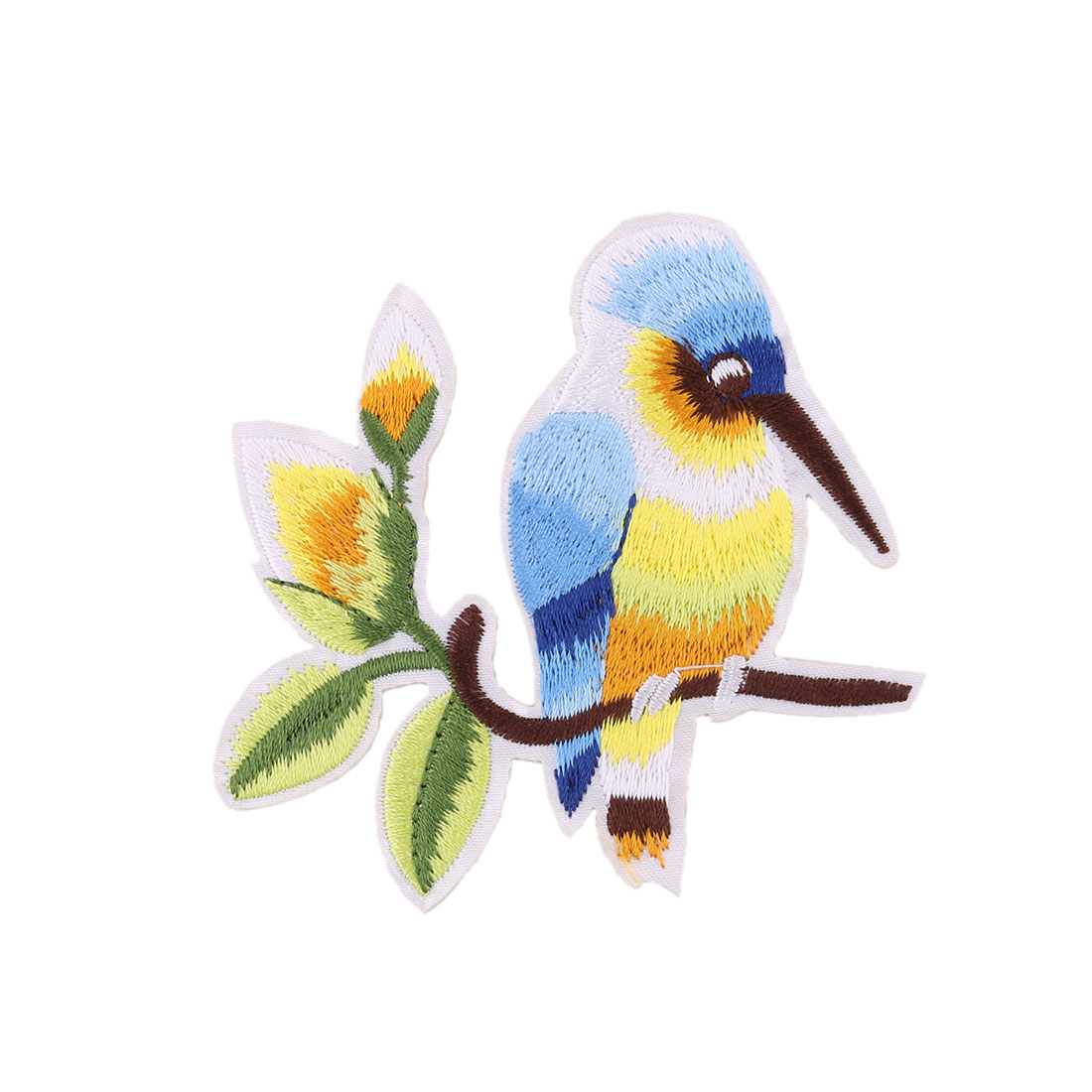 Unique Bargains Family Polyester Bird Pattern Embroidery Handicraft DIY Clothes Lace Applique
