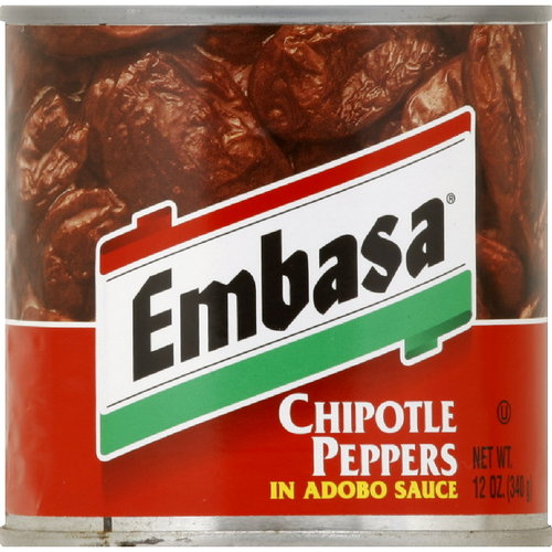 Embasa Chiptole Peppers in Adobo Sauce, 12 oz (Pack of 12)