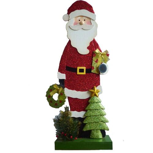 "Holiday Time 33"" Tall Santa Christmas Greeter"